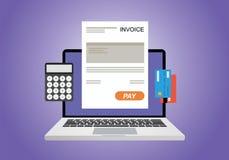 Online digitale rekening vector illustratie
