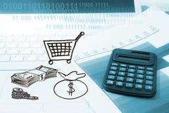 Online-digitalt marknadsföringsbegrepp arkivfoton