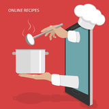 Online dishes recipes vector concept. Royalty Free Stock Images