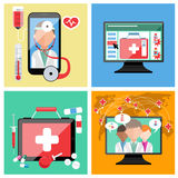 Online doctor concept Stock Image