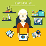 Online doctor concept Stock Images