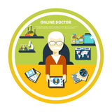 Online doctor concept Royalty Free Stock Images