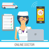 Online Doctor Consultation Concept Royalty Free Stock Image