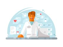 Online doctor consultation Royalty Free Stock Photos