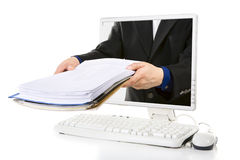 Online document royalty free stock image
