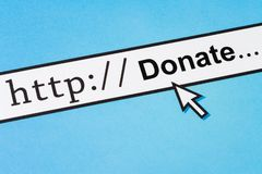 Online Donate concept royalty free stock photos