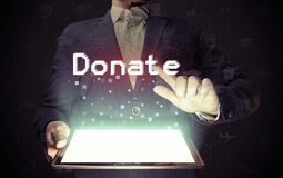 Online donate concept. Royalty Free Stock Photography