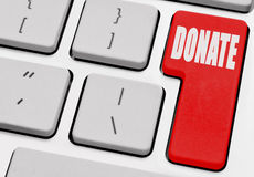 Online donation Stock Images