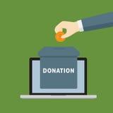 Online-donationillustration Arkivfoton