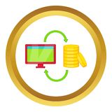 Online earnings vector icon Stock Image