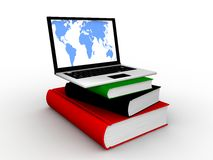 Online Education. Concept in 3D Royalty Free Stock Photo
