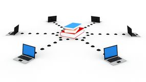Online Education. Concept in 3D Stock Images