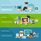 Online Education Banner Royalty Free Stock Image