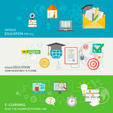 Online Education Banner Stock Images