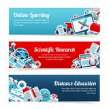 Online Education Banners Stock Images