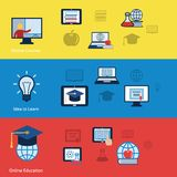 Online education banners Royalty Free Stock Images