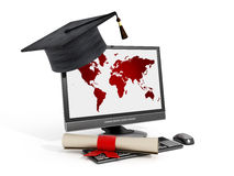 Online education Royalty Free Stock Image