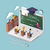 Online education concept Royalty Free Stock Photos
