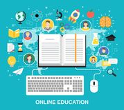 Online education concept Royalty Free Stock Images
