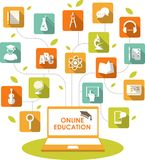 Online education concept Stock Photos