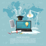 Online education concept e-learning Stock Images