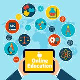 Online education concept Royalty Free Stock Image