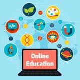Online education concept Stock Photos