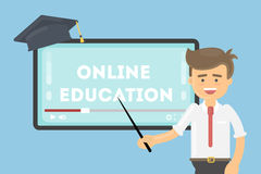 Online education concept. Stock Image