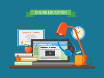 Online education concept. Vector illustration in Stock Photo