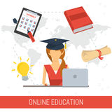 ONLINE EDUCATION CONCEPT Royalty Free Stock Photography