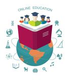 Online education. Royalty Free Stock Images