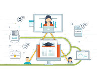 Online education and courses Royalty Free Stock Photos