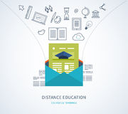 Online education and courses Stock Photos
