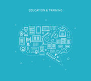 Online education and courses Royalty Free Stock Photo
