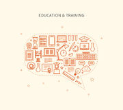 Online education and courses Royalty Free Stock Image