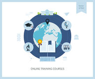 Online education and courses Stock Images