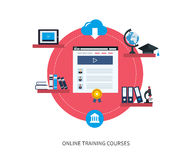 Online education and courses Royalty Free Stock Images