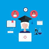 Online education and courses Stock Photography