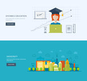 Online education and courses Stock Image