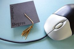 Online education degree Stock Image
