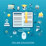Online Education Design Concept Royalty Free Stock Image