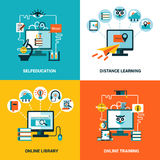 Online Education Design Concept Set Royalty Free Stock Photo