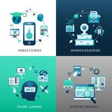 Online Education Design Concept Stock Image