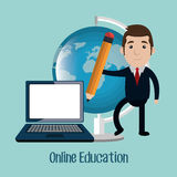 Online education design. Illustration eps10 graphic Royalty Free Stock Photo