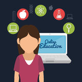 Online education design Royalty Free Stock Photos