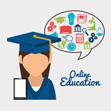 Online education design. Illustration eps10 graphic Stock Photos
