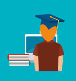 Online education design Stock Photography
