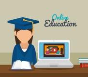 Online education design Stock Image