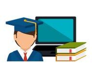Online education design. Illustration eps10 graphic Royalty Free Stock Photo