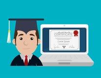 Online education design. Illustration eps10 graphic Stock Image